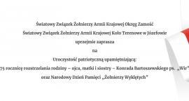75. rocznica rozstrzelania rodziny K. Bartoszewskiego ps. Wir oraz Narodowy Dzień Pamięci