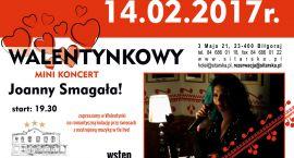 Walentynkowy minikoncert Joanny Smagały