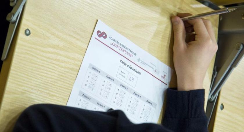konkursy, Konkurs Matematyczny CONTINUUM - zdjęcie, fotografia