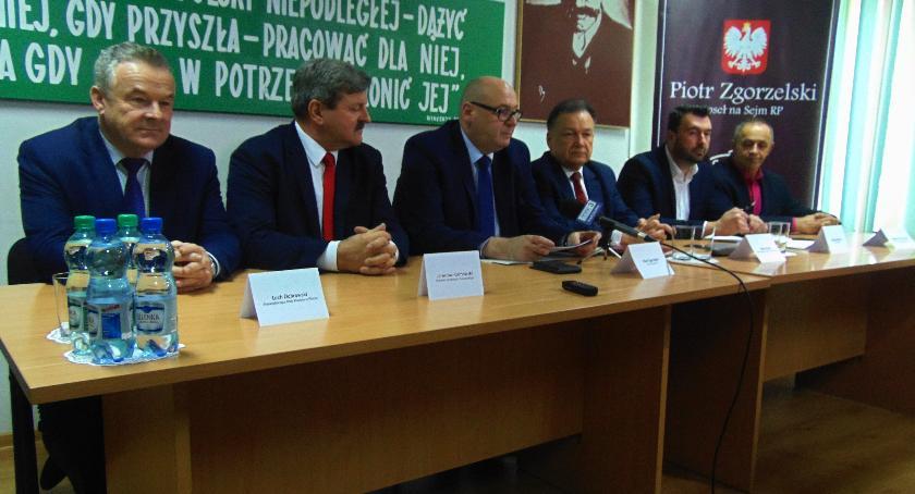 SPOŁECZNE, Konferencja prasowa Polskiego Stronnictwa Ludowego - zdjęcie, fotografia