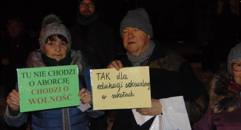 SPOŁECZNE, Czarna środa protest kobiet Płocku - zdjęcie, fotografia