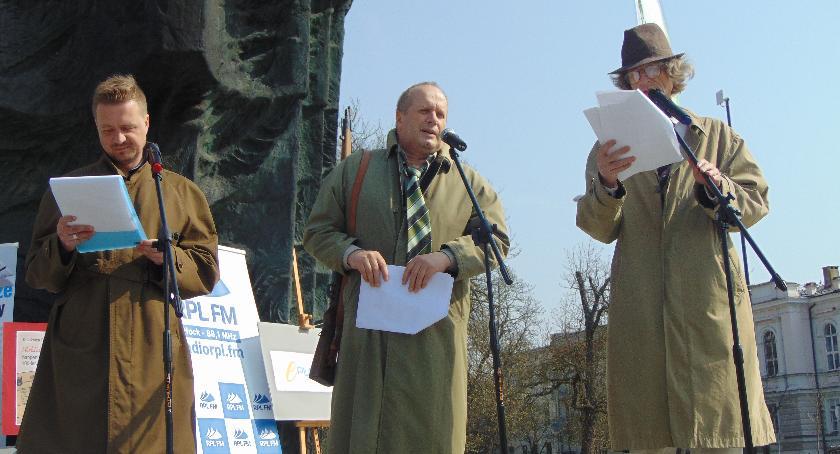 SPOŁECZNE, Happening historyczny Broniewski kolegami Legiony wyruszał… - zdjęcie, fotografia