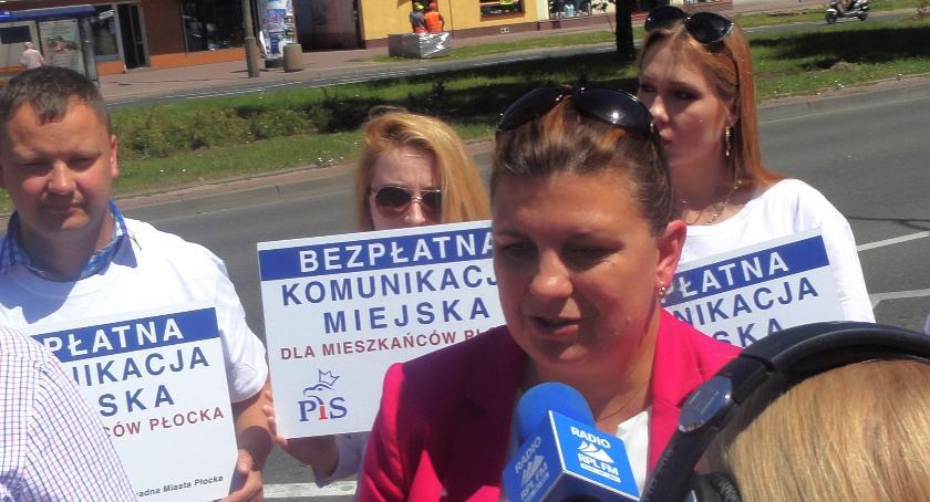 POLITYCY, Konferencja prasowa kandydatki prezydenta Płocka - zdjęcie, fotografia