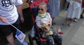 Protest solidarnościowy z niepełnosprawnymi w Sejmie