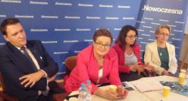 Kamila Gasiuk-Pihowicz i Katarzyna Lubnauer w Płocku