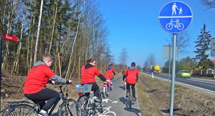 Aktualności, Symboliczne otwarcie przejazd nową ścieżką rowerową Skaryszew Radom [FOTO] - zdjęcie, fotografia