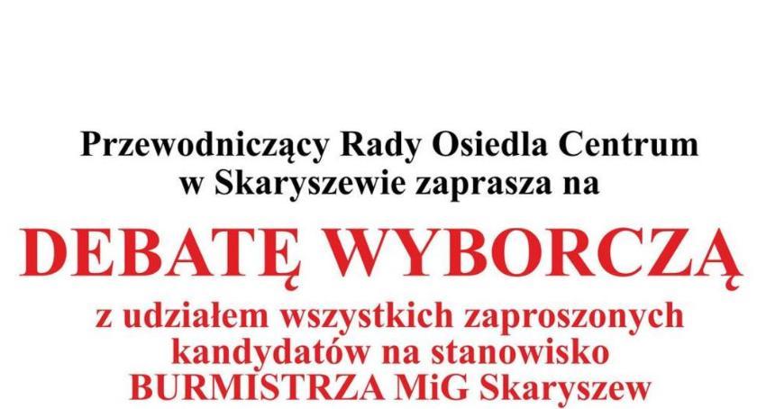 Aktualności, Debata wyborcza Skaryszewie - zdjęcie, fotografia