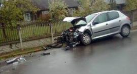 Zderzenie samochodów w Janowie