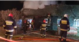 Pożar drewnianego domu w Modrzejowicach