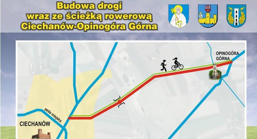 Inwestycje, samorządy chcą wybudować ścieżkę rowerową Ciechanowa Opinogóry - zdjęcie, fotografia