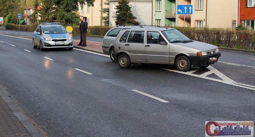 Wypadki drogowe, Poranna kolizja Starostwie Ciężarna trafiła szpitala (zdjęcia) - zdjęcie, fotografia