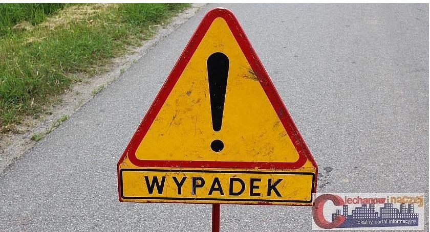 Wypadki drogowe, ostatniej chwili Zderzenie dwóch pobliżu dworca Ciechanowie - zdjęcie, fotografia