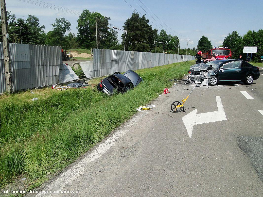 Wypadki drogowe, Tragiczny wypadek Glinojeckiem osób żyje - zdjęcie, fotografia