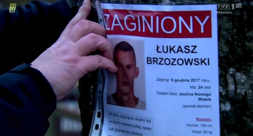 Poszukiwani/Zaginieni, programie Ktokolwiek widział ktokolwiek szczegółach zaginięcia Łukasza Brzozowskiego - zdjęcie, fotografia
