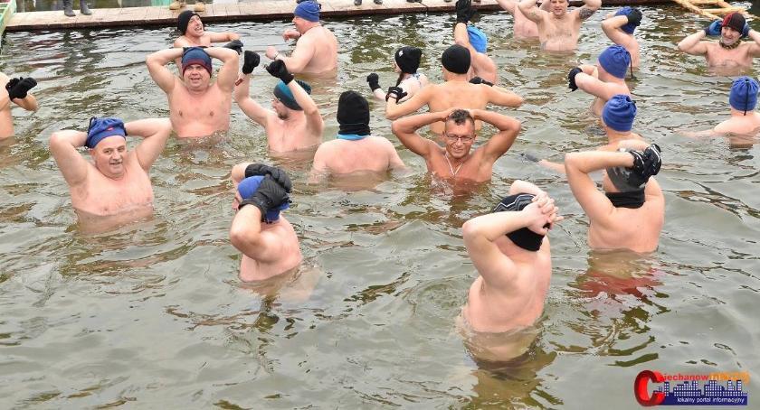 Inne Sporty, niedzielę Ciechanowskie Bicie Rekordu Morsowaniu - zdjęcie, fotografia