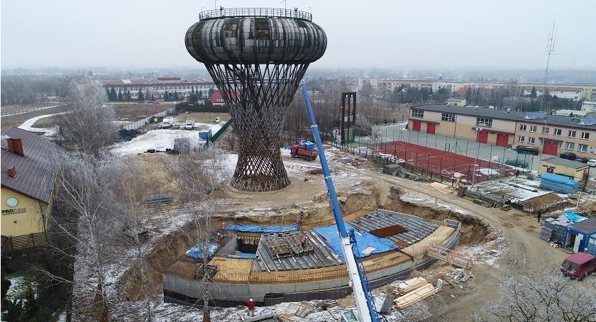 Inwestycje, Podziemna kondygnacja parku nauki prawie gotowa Ruszyły prace samej wieży - zdjęcie, fotografia