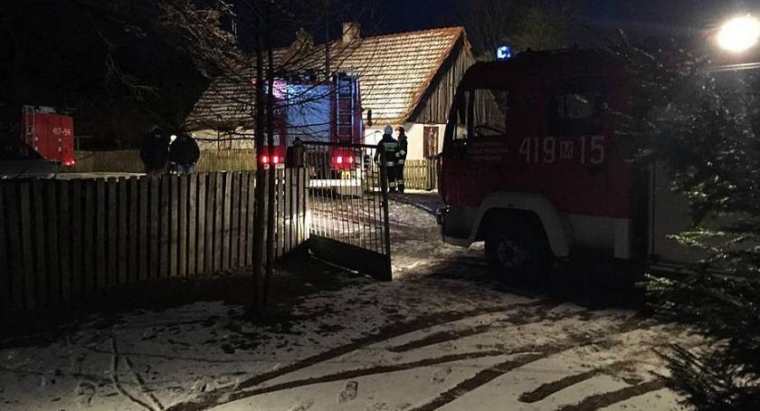 Pożary, pożary domach jednorodzinnych ciechanowskim (zdjęcia) - zdjęcie, fotografia