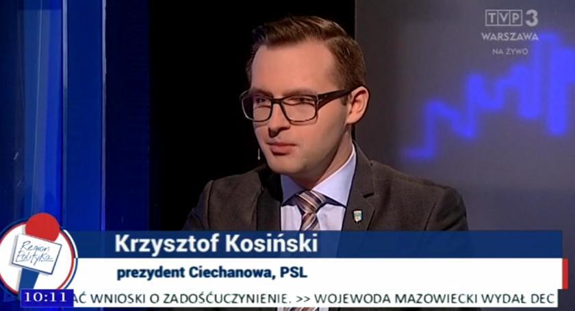 Samorząd, Prezydent Ciechanowa programie Region Polityka [wideo] - zdjęcie, fotografia