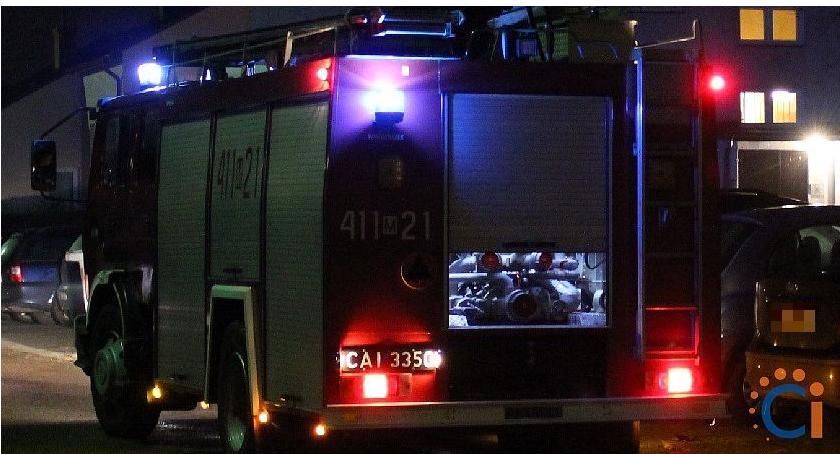 Pożary, Kolejny pożar Ciechanowie Ogień pojawił poddaszu - zdjęcie, fotografia