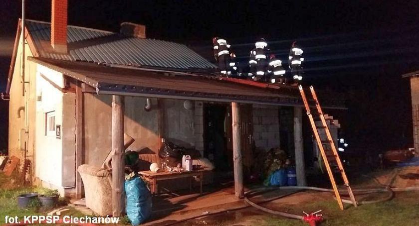 Pożary, Strażacy gasili pożar Ciechanowie [zdjęcia] - zdjęcie, fotografia
