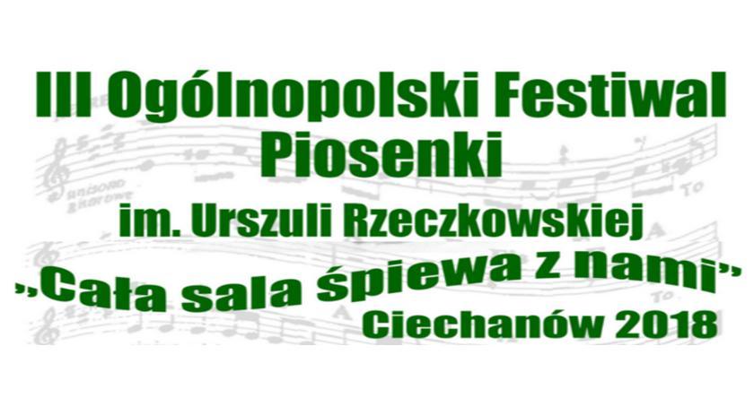 Muzyka, Ogólnopolski Festiwal Piosenki Urszuli Rzeczkowskiej Ciechanowie gminie Sońsk - zdjęcie, fotografia