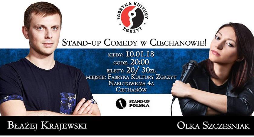 Koncerty, Fabryka Komedii Ciechanowie Stand Szczęśniak Błażej Krajewski - zdjęcie, fotografia
