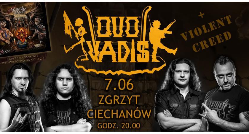 Koncerty, Vadis Violent Creed piątek Ciechanowie - zdjęcie, fotografia