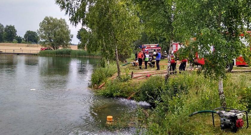 Działania Strażaków, Działania strażaków kąpielisku Krubin [zdjęcia] - zdjęcie, fotografia