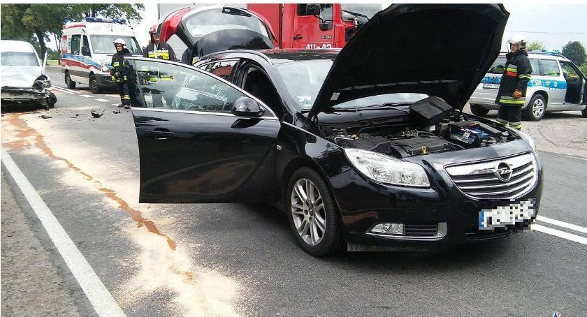 Wypadki drogowe, Policyjne ustalenia zdarzenia drogowego Gumowie - zdjęcie, fotografia