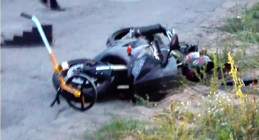 Wypadki drogowe, Tragedia drodze Zginął letni motocyklista [zdjęcia] - zdjęcie, fotografia