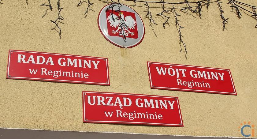Wybory, Kandydaci wójta radnych gminie Regimin - zdjęcie, fotografia