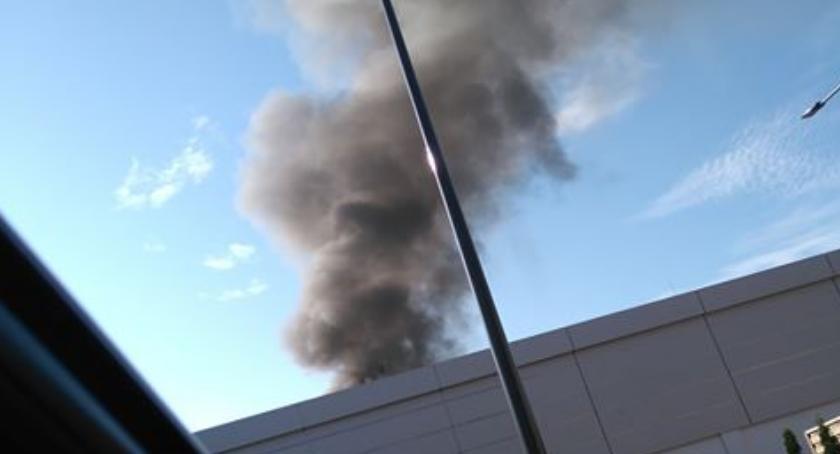 Pożary, ostatniej chwili Pożar osiedlu Bloki Ciechanowie - zdjęcie, fotografia