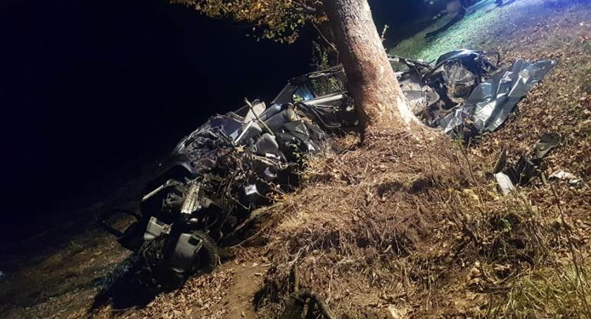 Wypadki drogowe, Tragiczny wypadek osoby żyją uderzyło drzewo [zdjęcia] - zdjęcie, fotografia
