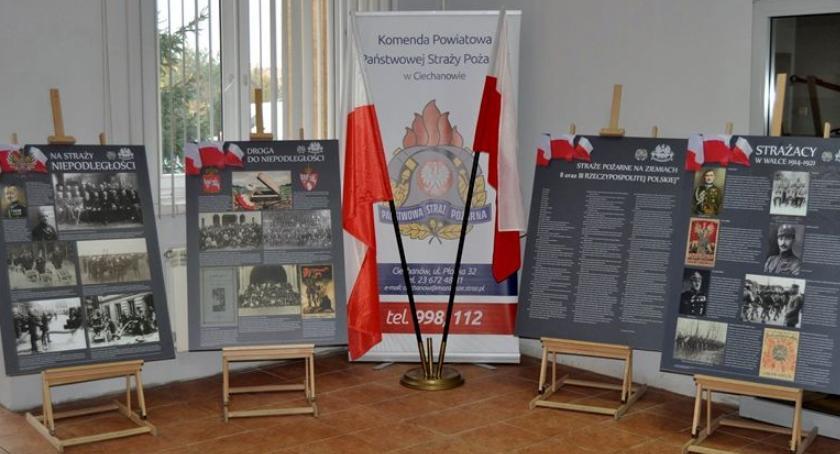 Działania Strażaków, straży niepodległości wystawa ciechanowskich strażaków [zdjęcia] - zdjęcie, fotografia