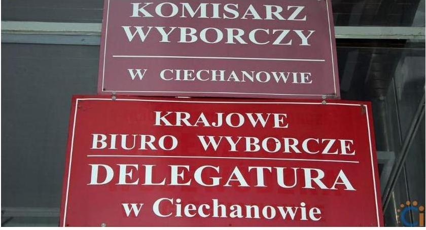 Wybory, incydenty czasie drugiej wyborów ciechanowskim - zdjęcie, fotografia