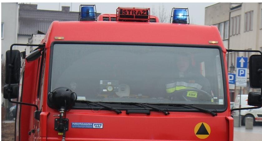 Pozostałe Interwencje, Alarm pożarowy ciechanowskim szpitalu - zdjęcie, fotografia