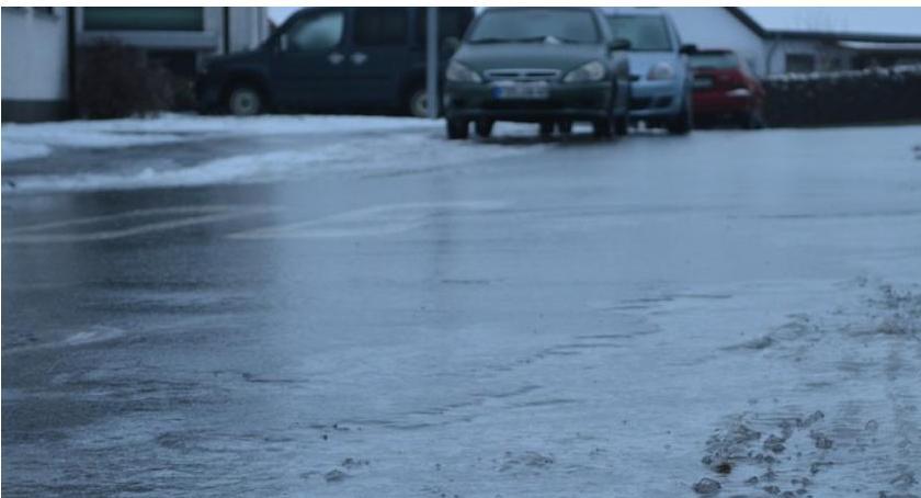 Komunikaty, Będzie ślisko! Ostrzeżenie powiatu ciechanowskiego - zdjęcie, fotografia
