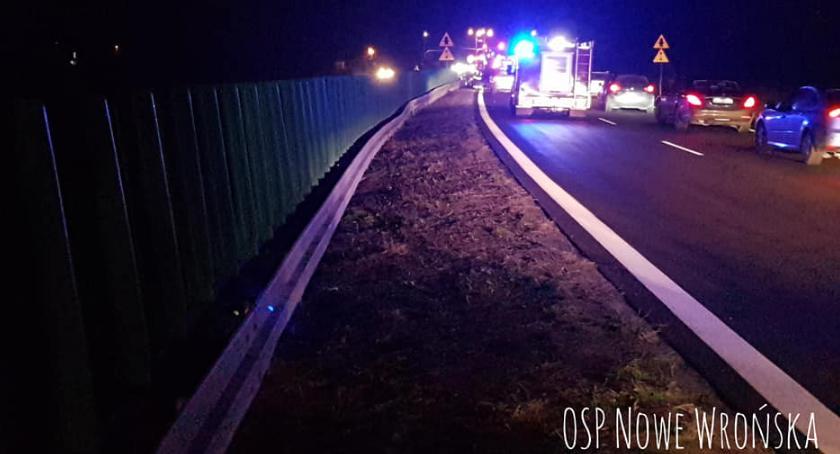 Wypadki drogowe, Cztery samochody zderzyły krajówce - zdjęcie, fotografia