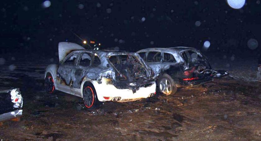 Pożary, Podpalili Porsche Straty sięgają ćwierć miliona złotych [zdjęcia] - zdjęcie, fotografia