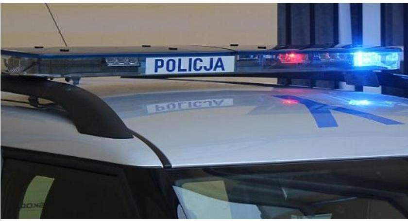 Wypadki drogowe, Wypadek Ciechanowem Kierowca potrącił pieszego - zdjęcie, fotografia