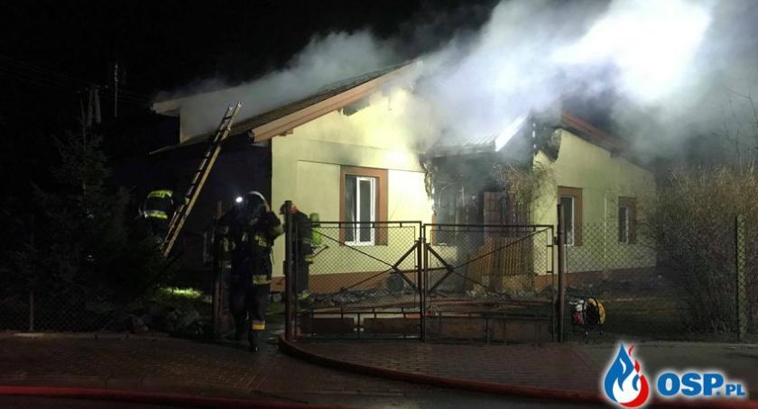 Pożary, Pożar Glinojecku rodziny dachu głową [zdjęcia] - zdjęcie, fotografia