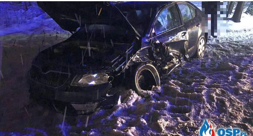 Wypadki drogowe, Kompletnie pijany spowodował kolizję Glinojeckiem [zdjęcia] - zdjęcie, fotografia