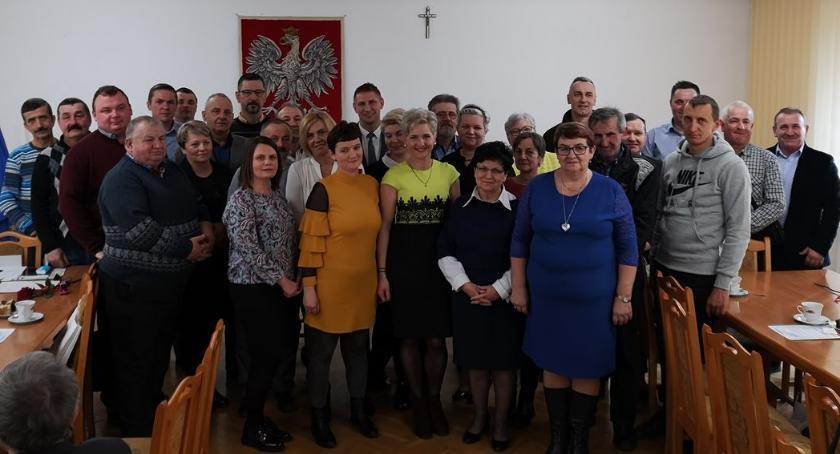 Samorząd, Podziękowali pracę sołtysom gminy Glinojeck - zdjęcie, fotografia