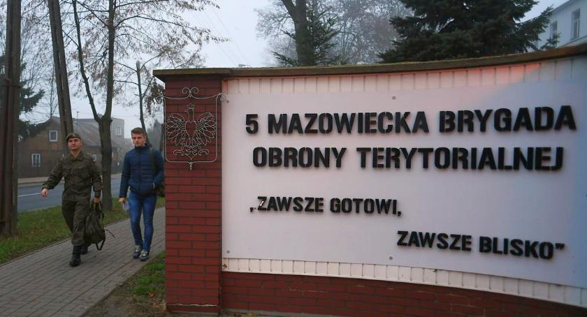 Wojsko, Terytorialsi rosną siłę Kolejne wcielenie szkolenia ciechanowskich koszarach - zdjęcie, fotografia