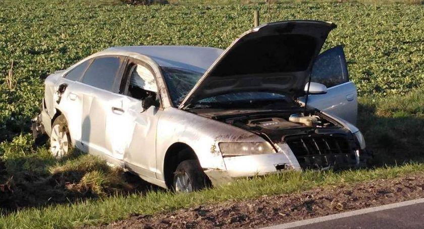 Wypadki drogowe, Ściął dachował Gruduskiem kompletnie pijany [zdjęcia] - zdjęcie, fotografia