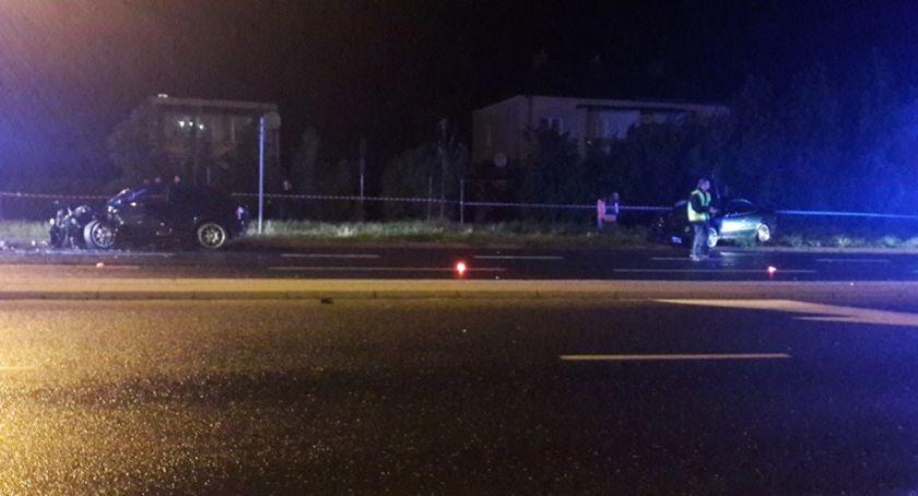 Wypadki drogowe, Wypadek Pułtuskiej Ciechanowie Ranne młode kobiety - zdjęcie, fotografia