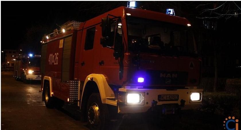 Pozostałe Interwencje, Martwił żonę Postawił ciechanowską policję straż pożarną - zdjęcie, fotografia