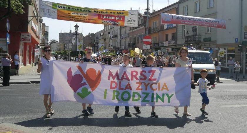 Kościół, Seksedukacja deprawacja Marsz Życia Rodziny Ciechanowie - zdjęcie, fotografia