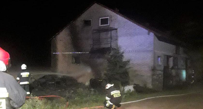 Pożary, Płonął budynek mieszkalno gospodarczy - zdjęcie, fotografia