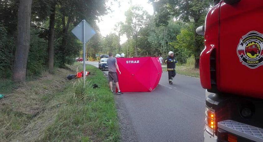 Wypadki drogowe, Pijany motocyklista spowodował kolizję gminie Sońsk [zdjęcia] - zdjęcie, fotografia